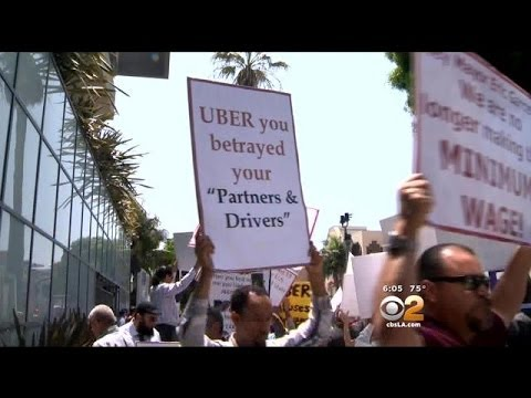 Uber Drivers Protest Company