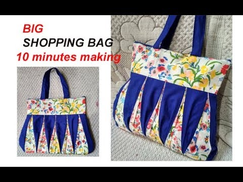EASY.... handmade big shopping bag / lunch bag/ handbag cutting and stitching in hindi /Travel Bag
