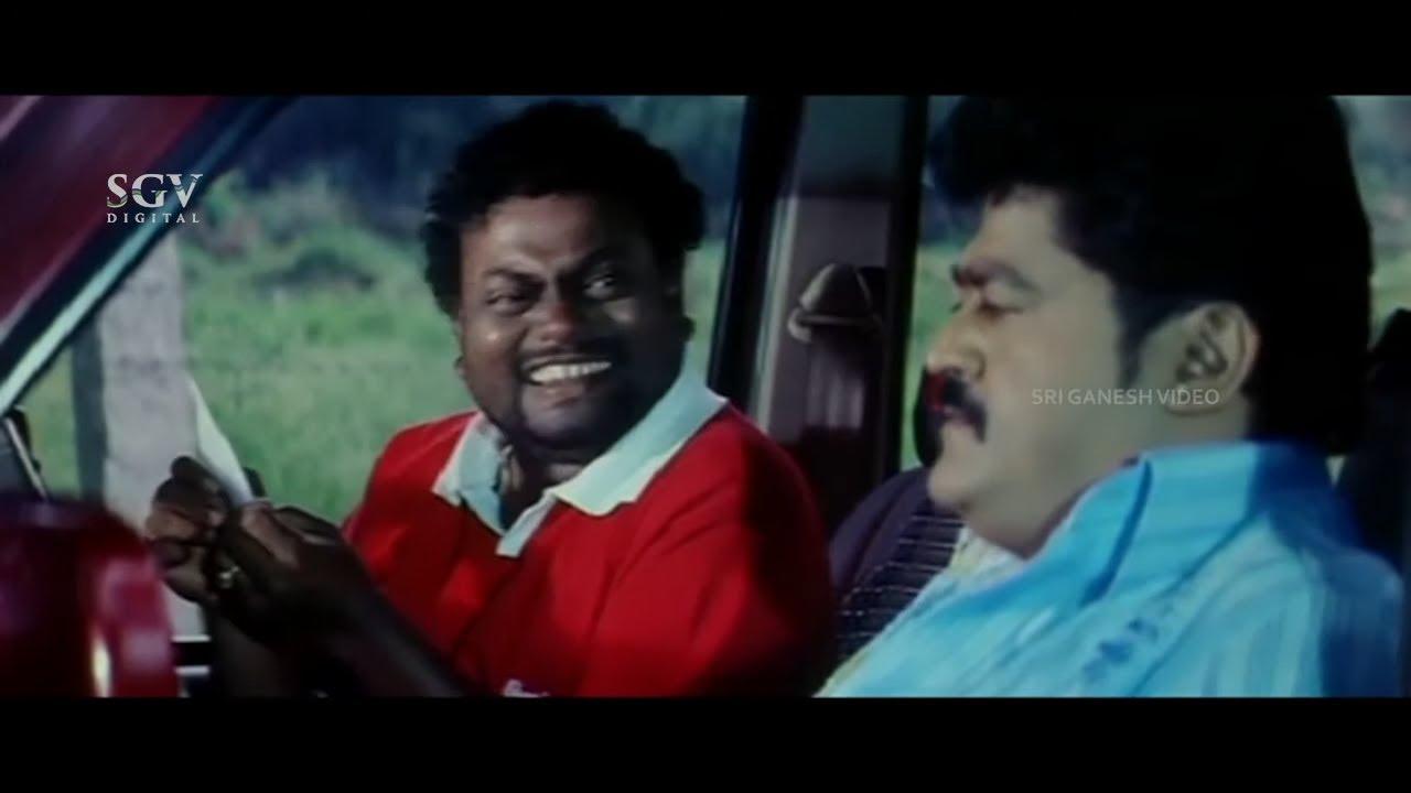 Sadhu Kokila Gives Lift to Jaggesh & Pooja Gandhi At Night | Comedy Scene | Kodagana Koli Nungittha