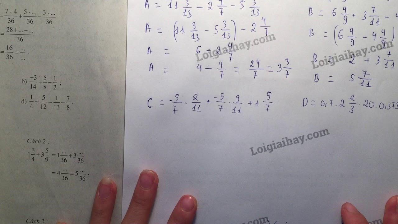 Giải bài 110 trang 49 SGK toán 6 tập 2