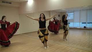 """Онлайн школа. Цыганский танец """"Танцуй девушка"""" под музыку к видео уроку """"разбор цыганского танца""""."""