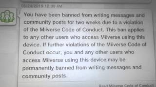 Could One Permanent Ban On Miiverse Result in a CONSOLE BAN Now?