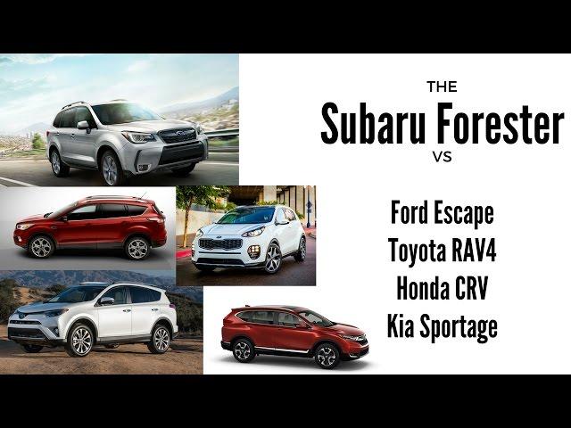 SUV Showdown: 2017 Subaru Forester Vs 2017 Toyota RAV4 : Tech : ITech Post