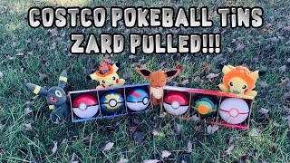 CHARIZARD PULLED FROM COSTCO POKEBALL TIN PACKS! PACK BATTLE!