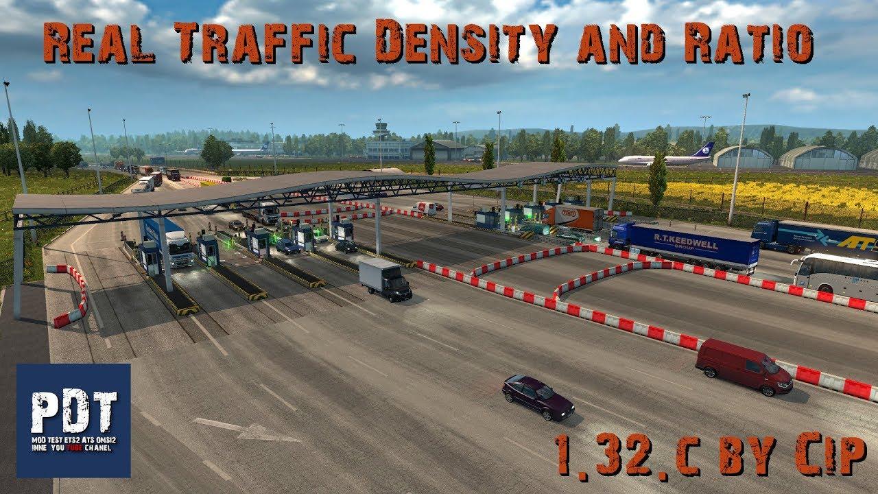 [ETS2  V1 32]   PDT   Real Traffic Density and Ratio 1 32 c by Cip