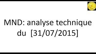Analyse technique cours de bourse MND demandée par Forum Boursorama