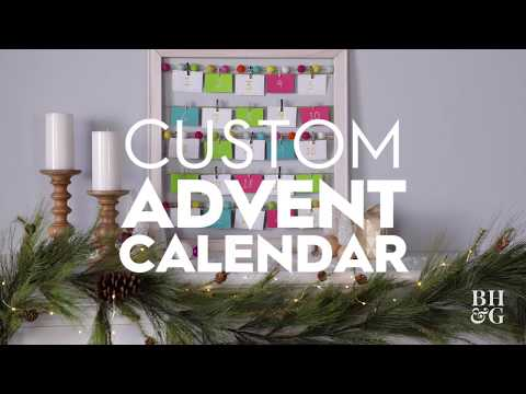 DIY Advent Calendar | Holiday Crafts | Better Homes and Gardens