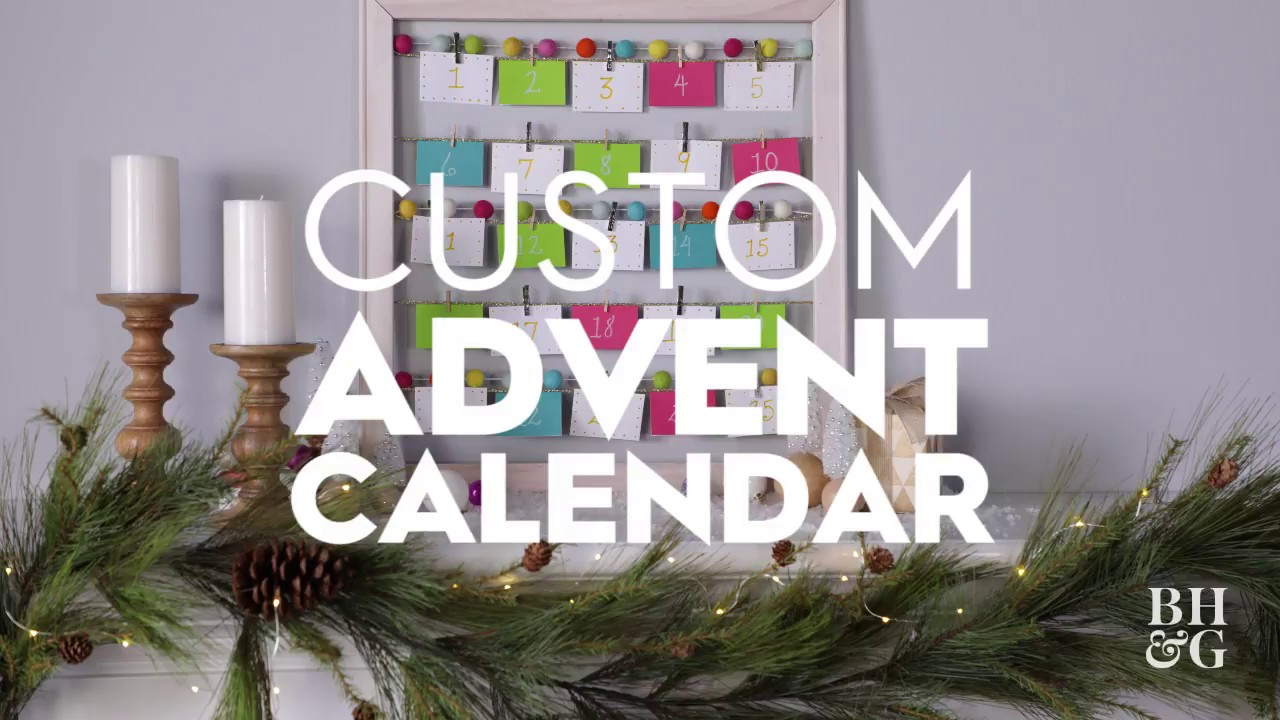 Diy Advent Calendar Holiday Crafts Better Homes And