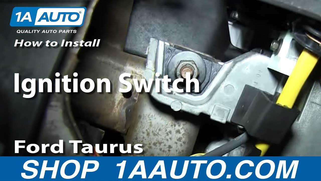 How To Install Replace Ignition Switch 1996 06 Ford Taurus Youtube 2014 Wiring Diagram