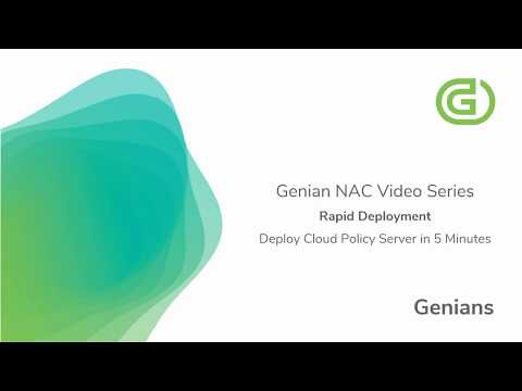 Deploying Policy Server in the Genians Cloud