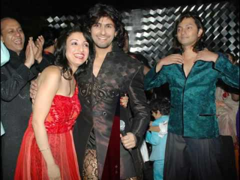Sonu Nigam Pictures With His Wife Madhurima Nigam