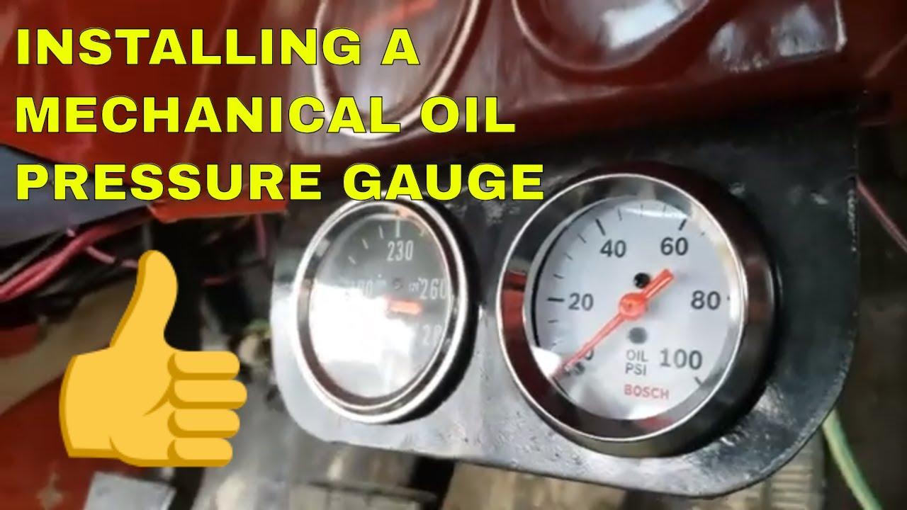 Mechanical Oil Pressure Gauge Install