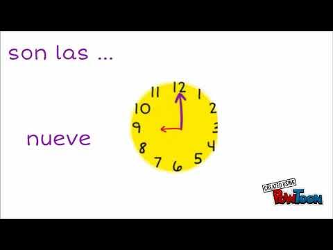 Dire L Heure En Espagnol Youtube