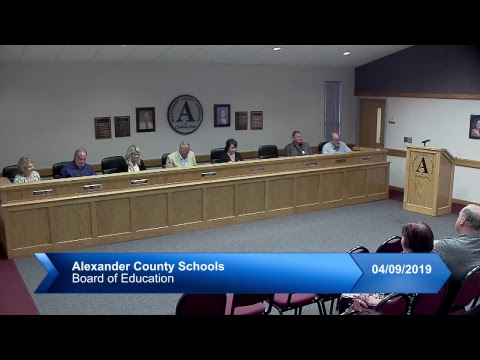 ACS Board of Education Meeting April 9, 2019
