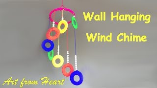 DIY Wind Chime || Wall Hanging using Woolen || Home/Room decoration Idea.