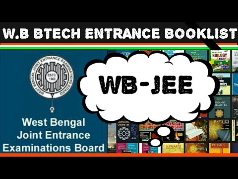 WEST BENGAL JEE BTECH ENTRANCE EXAM BOOKS||WB TOPPER'S PREPARATION STRATEGY/BOOKLIST/TIPS