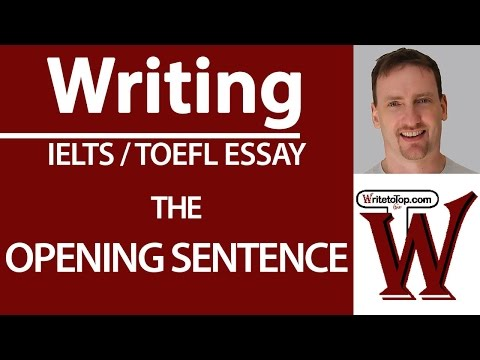 Writing Quick Tip: The  Opening Sentence