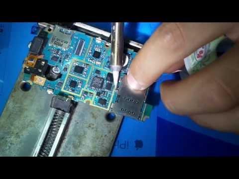 طريق تغيير كونكتور كارت سيم change connecteur carte sim samsung s5620