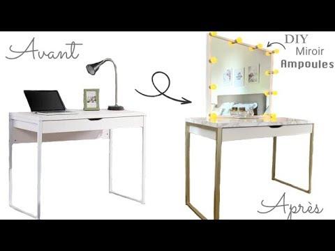 Comment customiser un vieu bureau en coiffeuse reva ytb youtube - Customiser un bureau ...