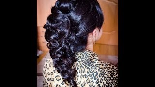 Греческая Свадебная прическа Wedding hairstyle braid tutorial