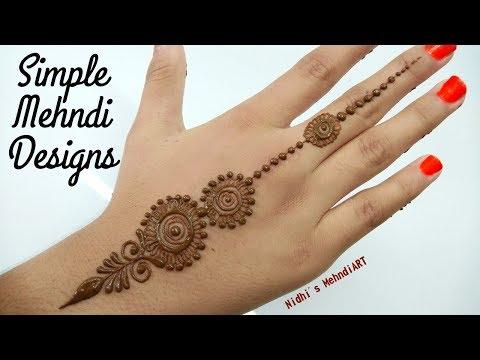 Simple Mehndi Designs for Hands Backside, Quick Easy Mehndi