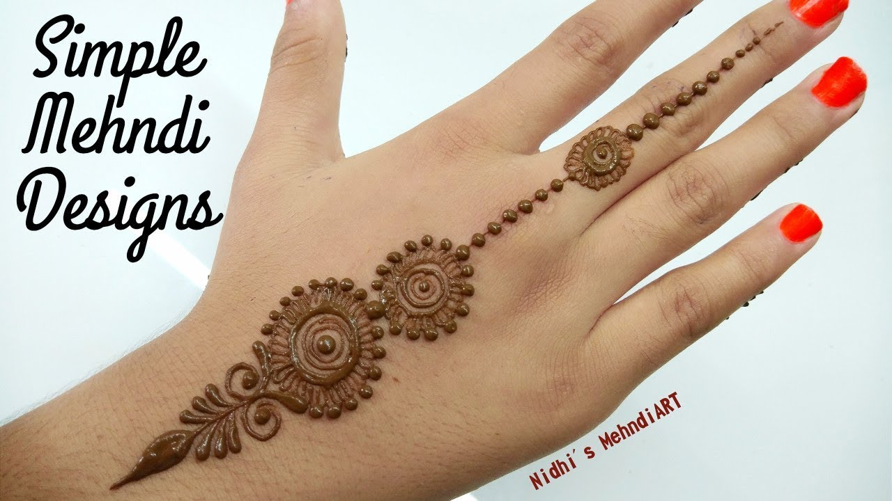 Simple Mehndi Designs for Hands Backside- Quick Easy ...