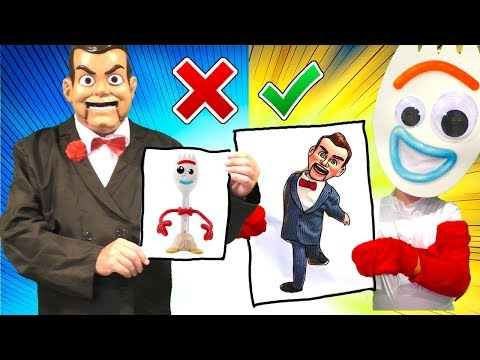 Toy Story 4 Extreme 3 Marker Challenge with Benson and Forky
