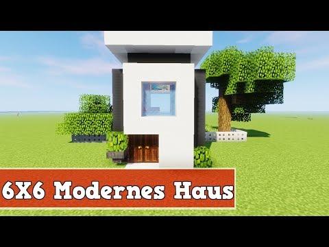 Wie baut man ein Modernes Haus in Minecraft | Minecraft Modernes Haus Bauen Deutsch Tutorial