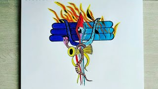 Download How To Draw Very Easy And Colourful Lord Shiva For