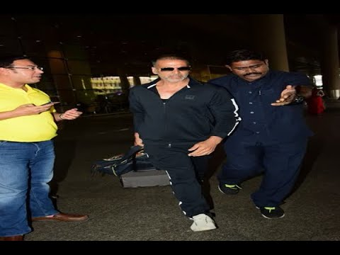 In Graphics: SEE PICS: Akshay Kumar & family back from their vacation; son Aarav avoids pa