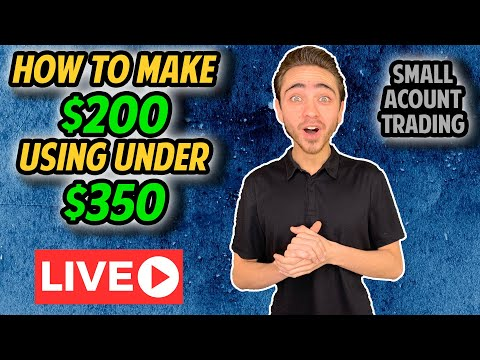 [LIVE] How To Make $200 trading stocks using less than $350 in 3 Minutes| Building A Small Account