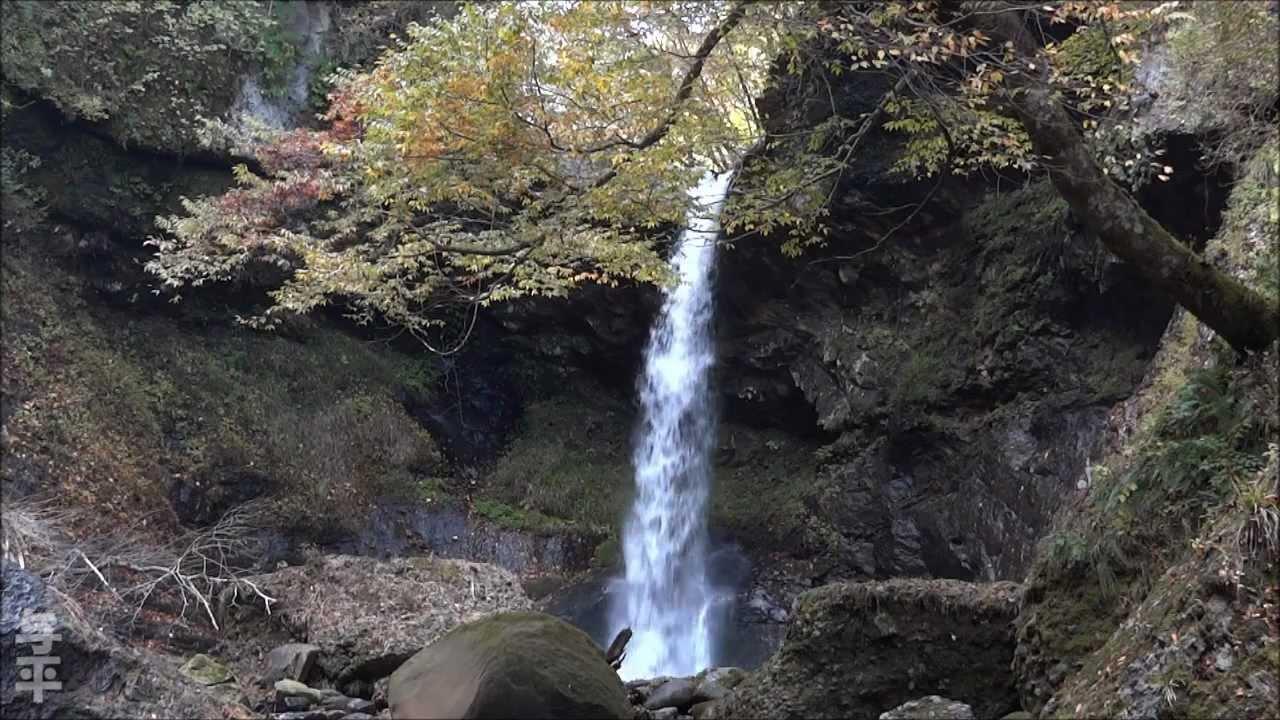 姉滝・妹滝と二口渓谷の紅葉 (...