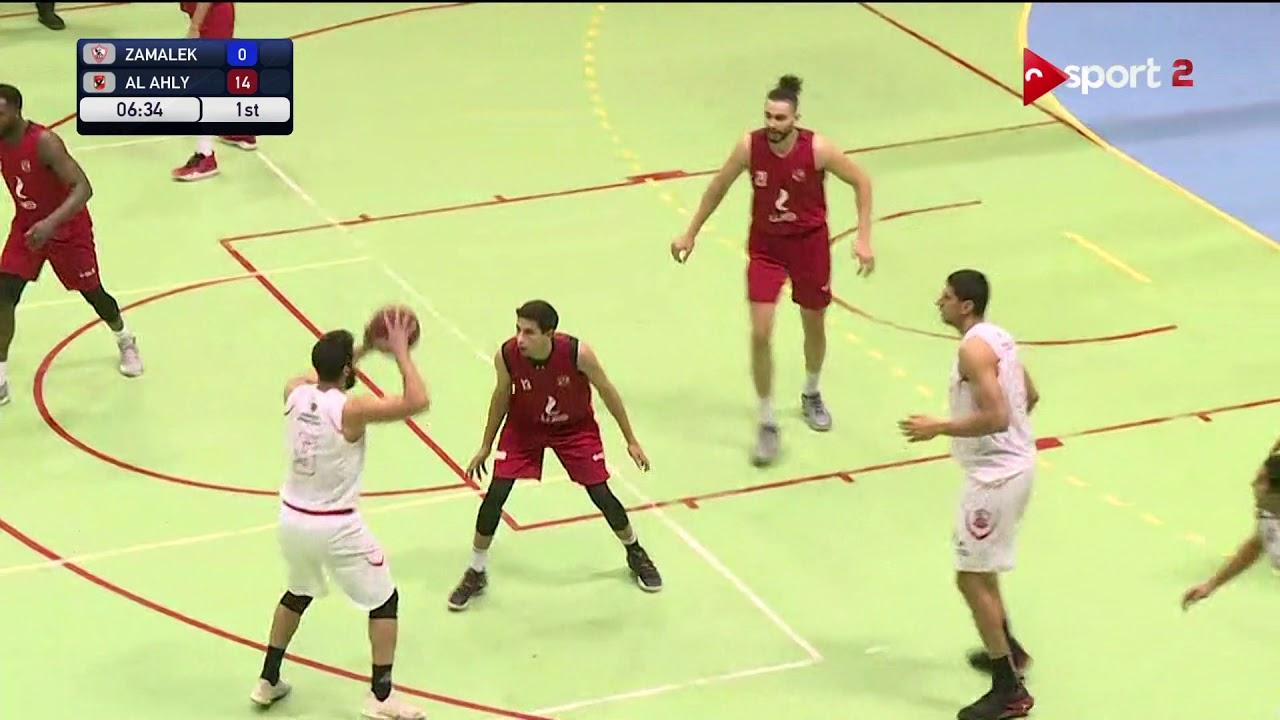 مباراة الأهلي والزمالك في دوري السوبر المصري لكرة السلة 2020/2019
