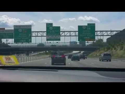 Driving approach to Tysons Corner Virginia from I495 Southbound (Aug 2015)