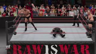 WWE 2K17 Undertaker and Kane vs The Rock and Steve Austin