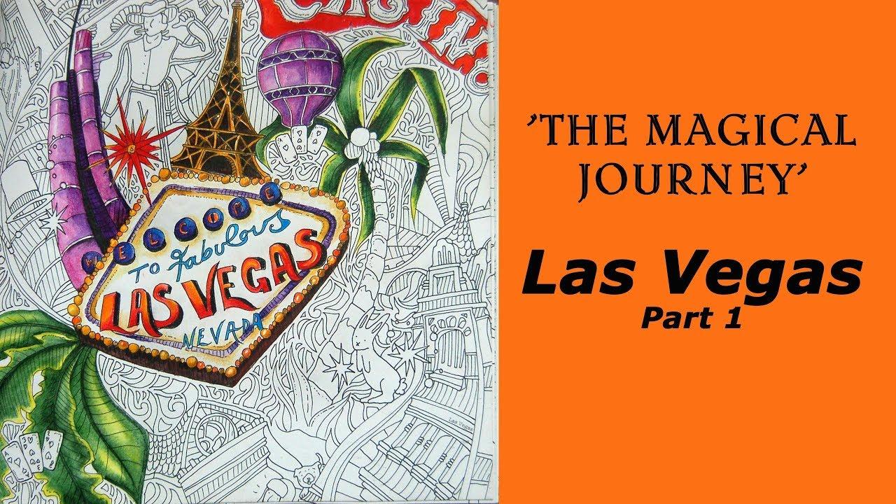 Coloring Magical Journey Las Vegas Part 1 Derwent Inktense Pencils