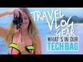 TRAVEL VLOG GEAR 2017 | DRONE, CAMERAS, EQUIPMENT | What's in our Tech Bag: 1yr RTW Travel