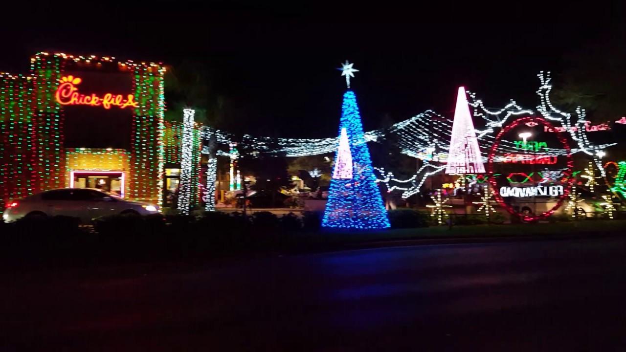 2016 chick fil a christmas lights tour tampa fl - Christmas Lights Tampa