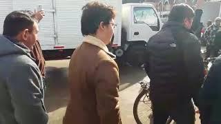 Hostil recibimiento a José Antonio Kast en San Antonio