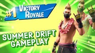 Summer Drift Skin Gameplay In Fortnite Battle Royale
