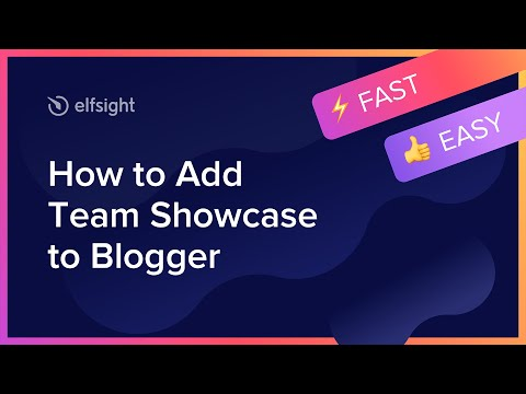 How To Add Team Showcase Widget To Blogger (2021)