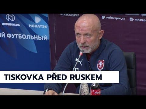 Tisková konference před zápasem s Ruskem