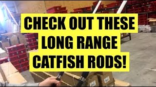 Cast YARDS, not FEET, with these long range catfish rods!