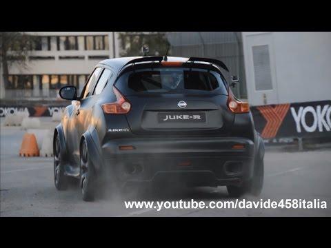 Nissan Juke R: launch, powerslides & fly bys! On board w/ Liuzzi