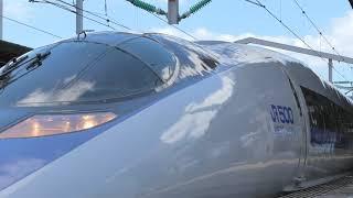 【4K】JR西日本 500系V9 団臨 西明石駅発車