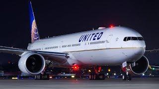 United Airlines Boeing 777-300ER's Inaugural flight to Mumbai Airport from Newark.