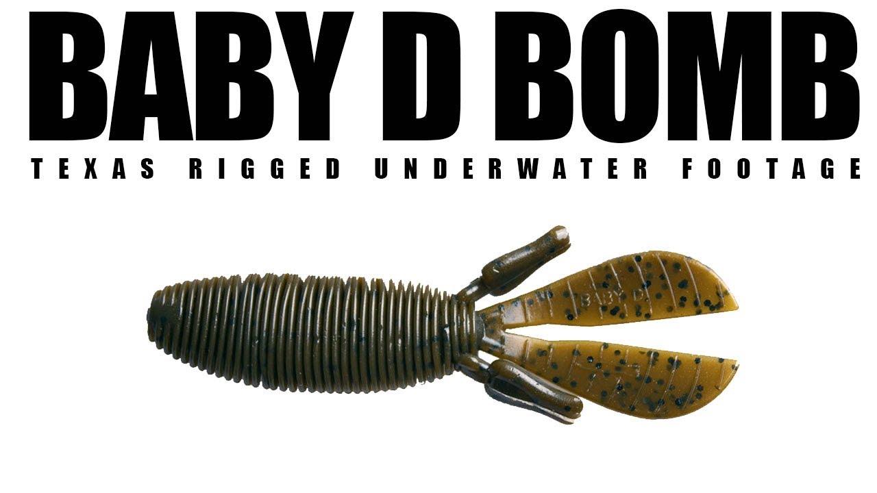 Fishing Lot 3 Missile Baits MBBD365 Green Pumpkin Purple Baby D Bomb 3.65 7Pk