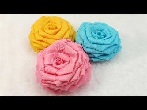 Diy Paper Flowers Tutorial Diy Crepe Paper Roses Youtube