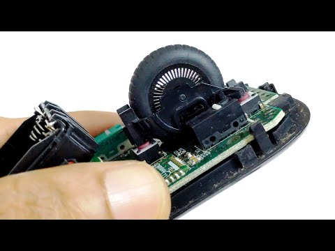 Logitech M510 Mouse Scroll Wheel Fix - Disassembly