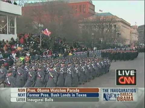 2009 Inaugural Parade - The Army Goes Rolling Along